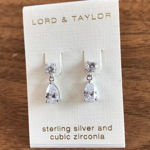 NWT Sterling silver and CZ earrings